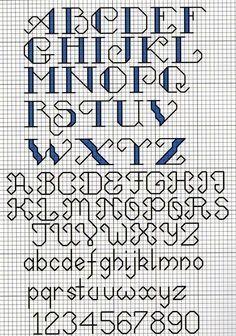 cross stitch alphabet - Google-søk
