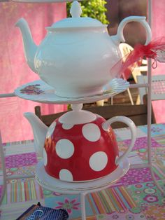 The red polka dot will look great in my kitchen!