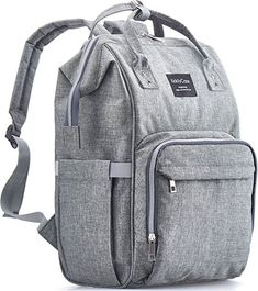 KiddyCare Diaper Bag Backpack Multi-Function Waterproof Maternity Nappy Bags for Travel with Baby Large Capacity Durable and Stylish Gray - Diaper Bags - Ideas of Diaper Bags - Best Backpack Diaper Bag, Buy Backpack, Travel Backpack, Eddie Bauer, Baby Girl Diaper Bags, Baby Boy, Diaper Bags For Dads, Dad Diaper Bag, Cool Backpacks