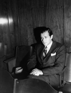 """Benjamin """"Bugsy"""" Siegel is arrested in New York City, Aug. in the slaying of Harry Schacter, a. Don Draper, Joseph Morgan, Robert Downey Jr, Mob Quotes, Sleep With The Fishes, Bugsy Siegel, Mafia Crime, James Bond, Robert De Niro"""