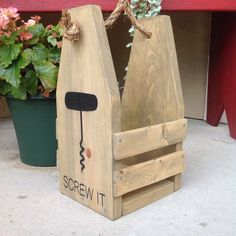 This handmade stained wood wine holder makes a perfect hostess gift, holiday gift, groomsmen or bridesmaid gift. Not only is the wine caddy an