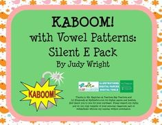 Kids love to play Kaboom!  It is a fun way to practice vowel phonics patterns, and help students gain automaticity in reading specific phonics patterns.  This pack contains 5 Kaboom! games: one for Long A silent E, one for long I silent E, one for long O silent E, one for long U silent E, and one with a mixture of long vowel silent E nonsense words.