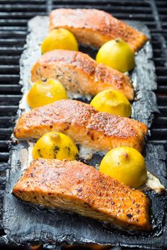 Fresh salmon fillets topped with a simple rub and cooked on a cedar plank until tender and moist. The best cedar plank salmon recipe for beginners.