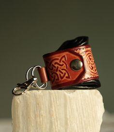 Engraved leather keyring keychain keyfob by secondstudio on Etsy