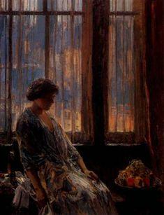 New York Window, Frederick Childe Hassam. American Impressionist Painter, (1859-1935)