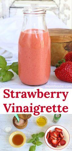 Strawberry Vinaigrette - Healthy Strawberry Salad Dressing recipe  #strawberry #vinaigrette #salad #dressing #healthyrecipes #healthyeating
