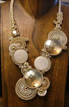 Beautiful necklace with Swarovski Chessboard Flatbacks