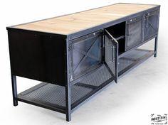 Custom Industrial Kitchen Island / Reclaimed Wood & Steel – Real Industrial Edge Furniture   Custom, Industrial, Vintage, Handmade