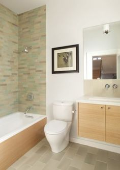 Now we're talkin' -- Beautiful tile with a bathtub at the bottom
