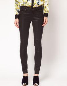 asos wet look jeans #4