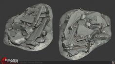 ArtStation - Gears of War Judgment Rubble, Josh Marlow