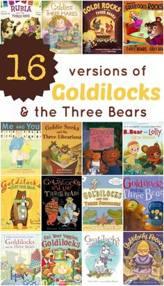 16 Versions of Goldilocks & the Three Bears (from Fantastic Fun & Learning) Bears Preschool, Preschool Books, Book Activities, Preschool Themes, Language Activities, Sensory Activities, Traditional Tales, Traditional Stories, Traditional Literature