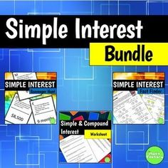 This simple interest bundle includes 3 of my favorite simple interest activities!You will receive my Simple Interest Scavenger Hunt with worksheet.  This is a 10 problem scavenger hunt that has students solve for each parameter of the simple interest formula (I, P, R, T).You also get a fun Fact Finder worksheet where students get to discover weird and wacky world records as they solve simple interest problems.Finally, you get a worksheet that includes simple interest problems as well as a…