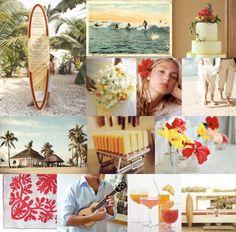 Vintage Hawaii Casual Beach Wedding