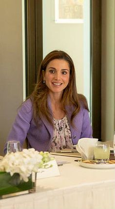 April Rania of Jordan♔♛. King Abdullah, Queen Rania, Her Majesty The Queen, Reyes, Queens, Royalty, Middle, Happiness, Comfy