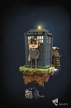 DoctorWho FanArt by ben rc, via Behance