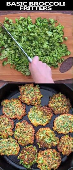 These light, golden-brown Broccoli Fritters make a delicious vegetarian dinner o. These light, golden-brown Broccoli Fritters make a delicious vegetarianBasic broccoli fritters These light, golden-brown Broccoli Fritters make a delicious vegetarian d Clean Eating Vegetarian, Vegetarian Dinners, Vegetarian Food, Vegan Meals, Vegetarian Recipes For Kids, Recipes For Lunch, Healthy Vegetarian Dinner Recipes, Food Dinners, Vegetarian Appetizers