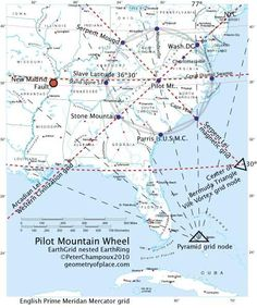 Magnetic Ley Lines In America Geology Patterns North America - Map of ley lines in us