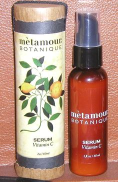 BOTANIQUE VITAMIN C SERUM: This serum is fantastic! You can apply it after using the Cleaners (FOAMING OR CREME CLEANSE) and the HYDROSOL/MIST. If your skin feels dry from the astringent quality of the ascorbic acid, then use the DAY & NIGHT CREME afterwards! www.metamourskincare.com