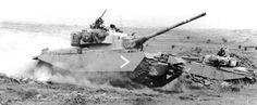 Israeli Centurion Sho't tanks regrouping during Yom Kippur war, October 1973