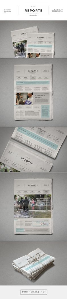 Reporte⎢Newspaper Covers on Behance - created via https://pinthemall.net