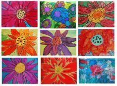 Sunnyside Art House - Georgia O'Keeffe Watercolour flowers
