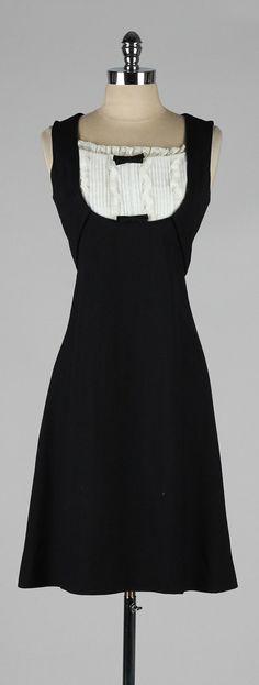 vintage 1960s dress . black linen tuxedo by millstreetvintage
