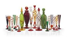 'CALICI DA COLLEZIONE', A GROUP OF VENETIAN GLASS DECANTERS AND FLUTES,