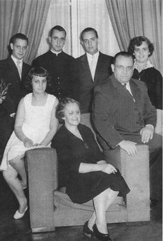 In this undated picture released by journalist Sergio Rubin, the future pope, second from left in back row, poses for a picture w/ his family in an unkn location. Bergoglio, who took the name of Pope Francis, was elected the 266th pontiff of the RomanCatholicChurch. Top row, from left to right, his brother AlbertoHoracio, Bergoglio, his brother OscarAdrian  sister MartaRegina. Bottom row, from left to right, his sister MariaElena, his mother ReginaMaria Sivori  father MarioJose Bergoglio