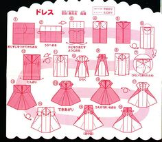 Tutte le dimensioni |Japanese instructions for making an origami dress | Flickr – Condivisione di foto!