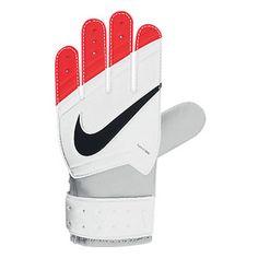 Nike Youth Grip Soccer Goalkeeper Glove (White/Total Crimson)