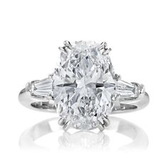 Classic Winston Oval Diamond Engagement Ring