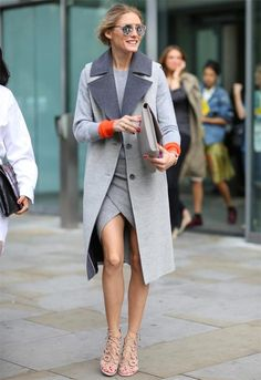 How to Wear Monochromatic Grey This Fall