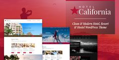 Hotel California – Hotel & Hostel Theme Hotel California is a WordPress Theme exclusively built for hotel, hostel, private accommodation, bed and breakfast or resort websites. It is fully R. Template Wordpress, Tema Wordpress, Wordpress Theme, Hotel California, California Travel, Hotel Website Templates, Theme Hotel, Theme Template, Spa