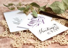 Modern calligraphy tips to improve your writing slant the