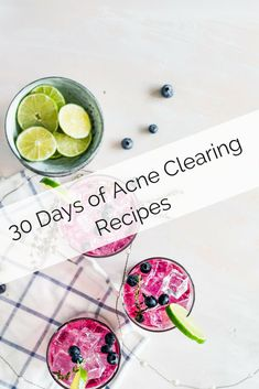 Grab 30 Days of Acne Clearing Recipes from this Clear Skin Challenge. Best Foods For Skin, Foods For Clear Skin, Clear Skin Face, Food For Glowing Skin, Clear Skin Diet, Diy Skin Care, Skin Care Tips, Acne Clearing Foods, Food For Acne