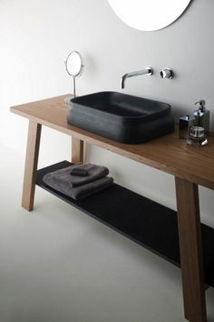 OMVIVO LATIS BATHROOM | love the clean lines & simplicity. Now wondering where the water goes
