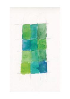 $25 - 'Aqua Grid', on Minted.com