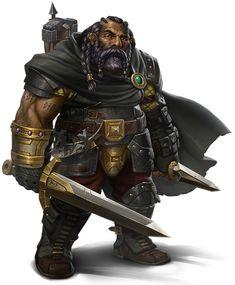 ebony dwarf, black dwarf, ranger, warrior, explorer, rpg, d&d, DnD, fantasy character, concept art by pintrest