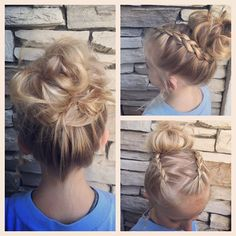 #updo #littlegirlhairstyles