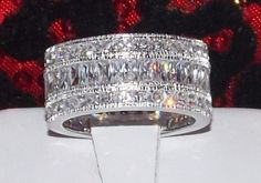 5ctw Engagement Wide Eternity Ring Wedding Band by SenseofStyle1