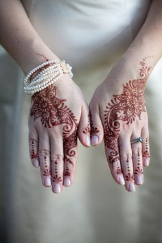 If I have an Indian wedding or a traditional American wedding, no matter what, I will have mehndi (henna) on my hands.