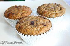 Paleo/gluten free Banana Chocolate Chip Muffins