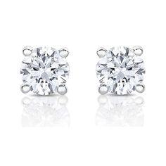 1//8 to 1cttw, Good, I1-I2 Bezel-Set Push-Back Diamond Wish 14k Rose Gold Round Single Diamond Stud Earring