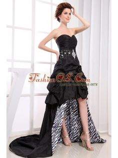Black High-low Prom Dress With Sweetheart Beaded Pick-ups For Custom Made-   http://www.fashionos.com  | stores to get celebrity dresses | cheap prom dresses online | allure celebrity dresses | cheap prom dresses | cheap prom dress ideas | popular evening dresses | 2013 spring homecoming dresses | perfect bridesmaid dresses for 2013 wedding party | reasonable celebrity dresses |