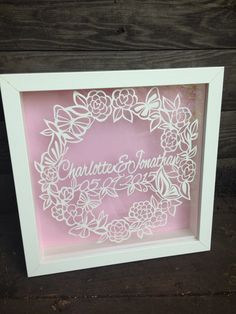 Items similar to Personalised wedding Papercut - framed - bespoke - wedding gift - anniversary - bird - vintage style - papercut - papercutting - paper cut on Etsy Vinyl Paper, Paper Art, Wedding Anniversary Gifts, Wedding Gifts, Diy Craft Projects, Diy Crafts, Bee Design, Product Ideas, Personalized Wedding