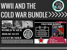 "World History - World War II - Holocaust - Cold War ""I am really excited to implement this unit in my U.S. History II class!"" - 2 different versions of PPT/Keynotes - Daily plans are included in all the units - Google Drive lifetime FREE updates and any new products - All the videos will be included for"