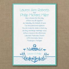 It's A Shore Thing - Layered Invitation - Wedding Invitations - Wedding Invites - Wedding Invitation Ideas - View a Proof Online - #weddings #wedding #invitations