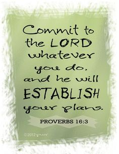 So comforting that I don't have to worry about what my future brings, God will establish my plans for me Proverbs 16:3