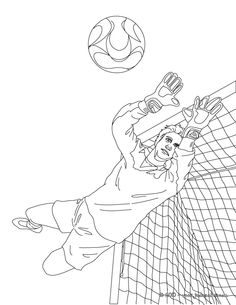 Garn De But à Colorier Football Coloring Pages Sports